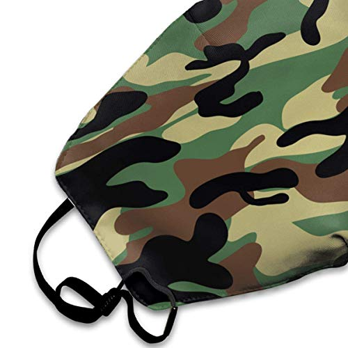 AAA.Yongfugui Dark Brown Camouflage.png Cotton Mouth Masks,Anti-dust Face Mask for Women and Men Breath Outdoor Warm Windproof Mask Outwear Fashion Outdoor Face Masks with Design