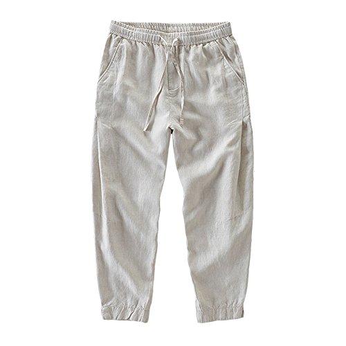 Linen Blend Cropped Pants - 3