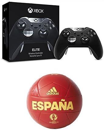 Microsoft - Mando Elite (Xbox One) + adidas Euro16 OLP Esp C - Balón, color rojo / amarillo, talla 5: Amazon.es: Videojuegos