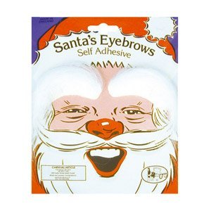 White Eyebrows Costume - Fancy Dress Eyebrows White
