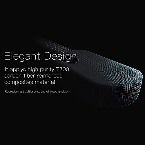 Muslady Populele U2 23 Inch Smart Concert Ukulele Ukelele Uke Supports APP  Teaching Function Carbon Fiber Body ABS Fretboard with LED light for