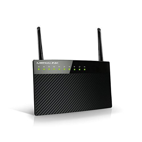 Medialink AC1200 Wireless Gigabit Router - Gigabit (1000 Mbps) Wired Speed & AC 1200 Mbps Combined Wireless Speed (Part# MLWR-AC1200R) (Best Wireless Router Under 50)