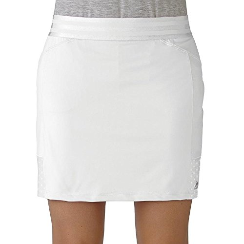adidas Golf Women's Range Wear Skort, White, (Women Range)
