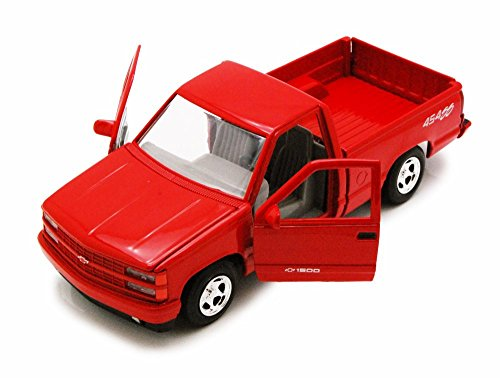 454ss Pickup (Motor Max 1992 Chevy 454SS Pick Up truck, Red 73203AC - 1/24 Scale Diecast Model Toy Car)