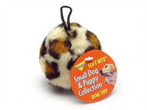 Skins Ball Leopard (Aspen/Booda Corporation DBX53947 Skins Ball Leopard Plush Dog Toy)