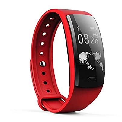 ZCPWJS smart wristband QS90 Smart Wristbands Blood Oxygen Blood Pressure Men Women Smart Band Activity Tracker Sport Smart Wearable Device Red Estimated Price £51.22 -