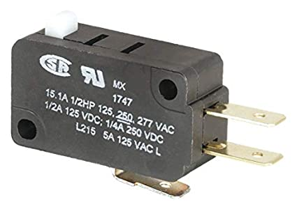 1 x  XV-15-F1 Miniature Micro Switch Pin Plunger Type 15A IP 40 Side Terminal