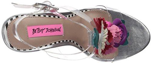 Betsey Johnson Women's Abigail Heeled Sandal Clear 1SNejD8bgv