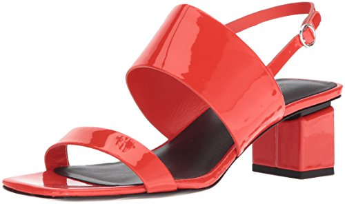 - Via Spiga Women's Forte Block Heel Sandal, Hot Orange Patent, 7.5 M US