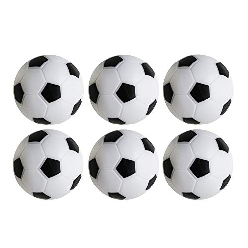 Review Table Soccer Foosballs Replacements Mini Black and White Soccer Balls (6 Pack)