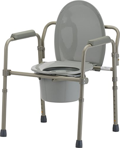 Rail Lock Guard (NOVA Medical Folding Commode, Over Toilet and Bedside Commode, Comes with Splash Guard/Bucket/Lid)