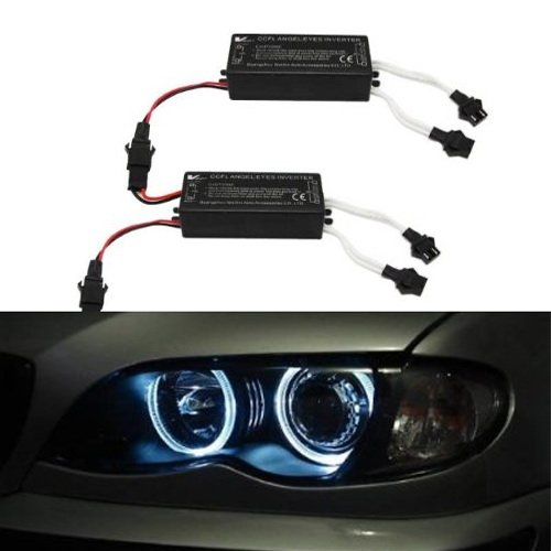 iJDMTOY Replacement Dual-Connector CCFL Inverters for BMW Mazda Lexus Infiniti CCFL Halo Angel Eyes ()