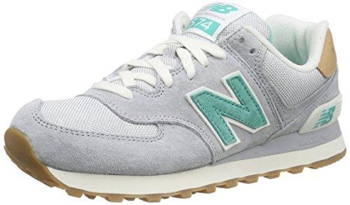 New Balance WoMen Nbwl574tpa Gymnastics Shoes, Viola/Azzurro, 5.5 B US Grey (Grey/Green)