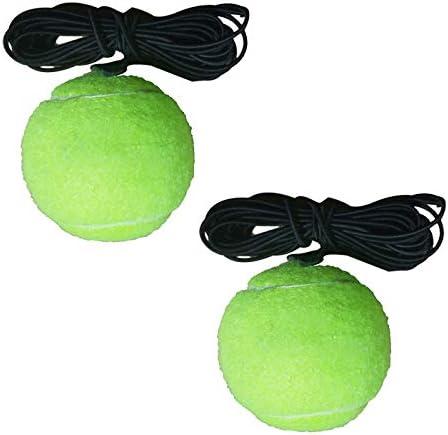 FANXQ Ortable Tamaño de Rebote Tenis Trainer autodidáctico Conjunto práctico de Tenis para Principiantes ayudas de Entrenamiento Práctica Socio Equipo Nave de la Gota,Ball