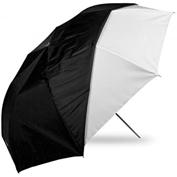 Westcott 2011  43-Inch Optical White Satin Collapsible with Removable Black Cover Umbrella (Black)