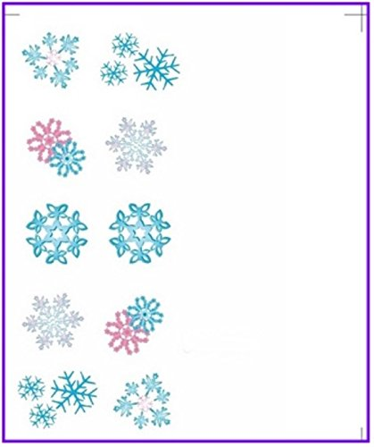 - 1 Sheets Xmas Christmas Santa Clause Deer Nail Art Stickers Water Transfer Nails Wrap Paint Tattoos Stamping Plates Templates Tools Tips Kits Graceful Popular Winter Snow Holidays Decals Kit, Type-02