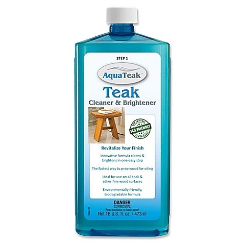 16 oz. Teak Cleaner and Brightener, Biodegradable Formula | Perfect For Maintaining Indoor or Outdoor Teak Furniture (1) (Discount Teak Outdoor Furniture)