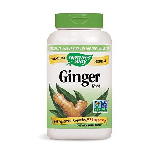 Nature's Way Premium Herbal Ginger Root 550 mg per capsule, 240 Vcaps