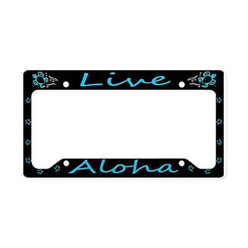 CafePress Aluminum &Quot;Live Aloha&Quot; Honu License Plate Aluminum License Plate Frame, License Tag Holder]()
