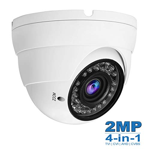 - Anpviz Security CCTV Camera HD 1080P 4-in-1 (TVI/AHD/CVI/960H CVBS) Security Dome Camera, 2.8mm-12mm Varifocal Lens Analog Video Surveillance, Day & Night Indoor Outdoor Waterproof (White) #AC-D3222W