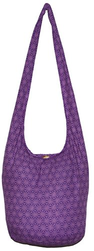 Bohemian Violet Hobo Boho Shoulder Body Bag Cross Hippie Diamond Purse rrFHA