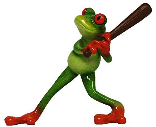 Glazed Frog Baseball Player Figurine YX6017 Baseball Player Figurine