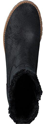 s.Oliver 5-5-26463-29 Modischer Damen Stiefel, Winterstiefel, warm gefüttert, 4cm Absatz, seitlicher Reißverschluss Black