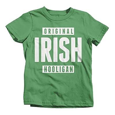 Shirts By Sarah Big Boy's Funny St. Patrick's Day T-Shirt Irish Hooligan T-Shirt