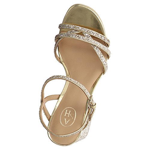 ASH Sparkle Sandalette mit Glitzer Gold