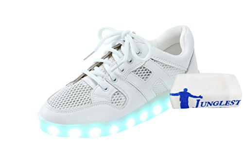 [Present:kleines Handtuch]JUNGLEST® Schwarz Schädel 7 Farbe Unisex LED-Beleuchtung Blink c3