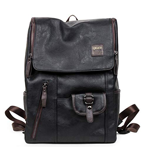 - Vintage Backpacks Oil Wax Leather Backpacks Western Style Bag For Male Laptop Travel College Backpack