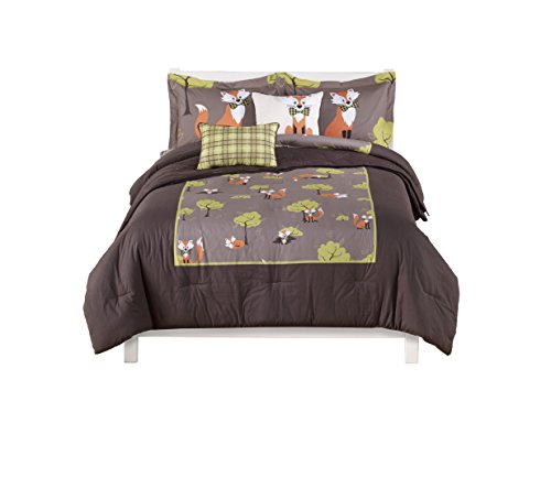 Beco Home 6-Piece Twin Comforter and Sham Set, 100-Percent Polyester, Fox by Beco Home