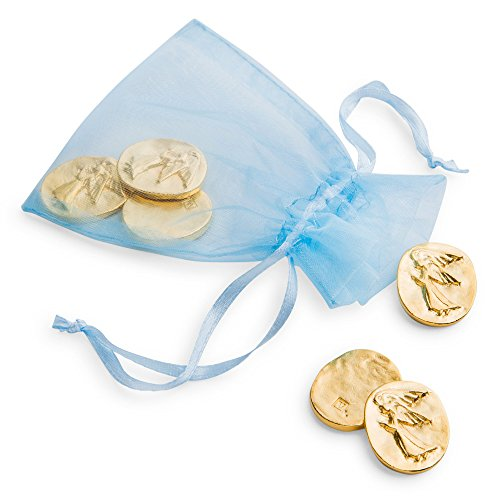 DANFORTH - Vilmain Golden Angel Pocket Tokens, Bag of 6 Pocket Coins - Pewter - Made in -