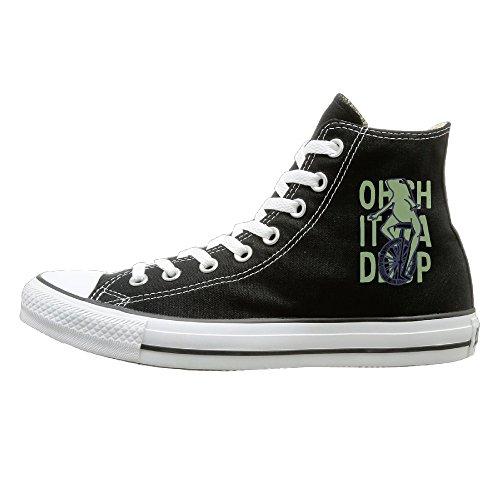 WS Unisex Classic DAT BOI Slip-On Shoes Black Size40 ()
