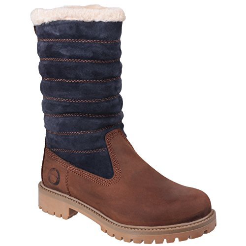Ladies Zip Grey Boots up Black Womens Ripple Cotswold xUn4q8Ht