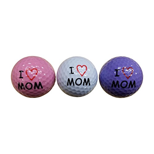 BZANY® Mother's Day I Love Mom Golf Balls (3 Pack)