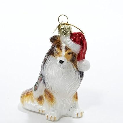 Kurt Adler Noble Gems Shetland Sheepdog Glass Christmas Ornament - Amazon.com: Kurt Adler Noble Gems Shetland Sheepdog Glass Christmas