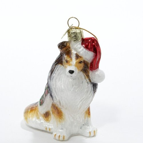 Shetland Sheepdog Christmas Ornament (Kurt Adler Noble Gems Shetland Sheepdog Glass Christmas Ornament)