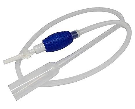 Limpiafondos acuario accesorio sifon limpieza pecera tubo saca agua bomba manual 207cm BPS-6870: Amazon.es: Productos para mascotas