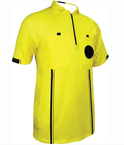 One Stop Soccer Official Referee Soccer Jersey Small/Yellow ()