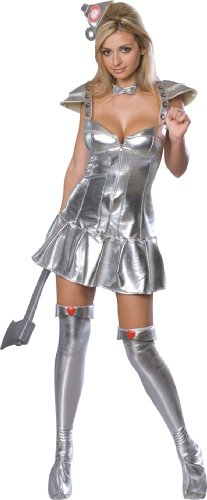 Secret Wishes Wizard Of Oz 75th Anniversary Edition, Tin Woman Costume, Silver, Small