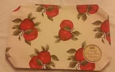 The Pecan Man Terry Everyday Kitchen Couple Apples Placemats Set of -
