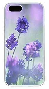 Case For Sam Sung Galaxy S4 I9500 Cover Landscape Romantic Purple Lavender Funny Lovely Best Cool Customize Case For Sam Sung Galaxy S4 I9500 Cover S Cover White