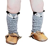 Changeshopping Toddlers Kids Girls Fox Pattern Knee High Socks for 0-6 Years