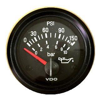 (VDO Gauge Oil Pressure 150 psi, Genuine Cockpit 350-911, 2