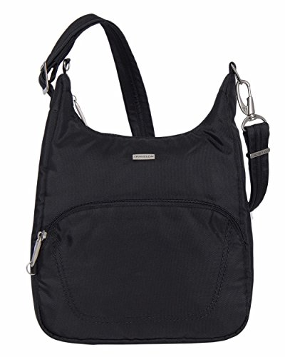 Travelon Anti-Theft Classic Essential Messenger Bag (BLACK W/DARK SAND LINING) by Travelon