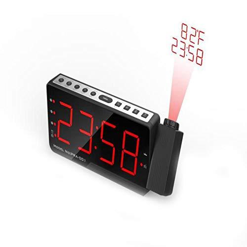 alarm clock radio FM Radio Alarm Clock With Time Projection Temperature