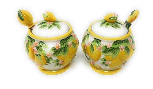 Temp-tations Figural Fruit Jam and Honey Jar (Lemon)