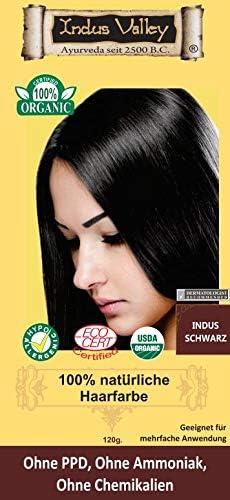 Indus Valley - Tinte para el cabello 100% natural, color negro