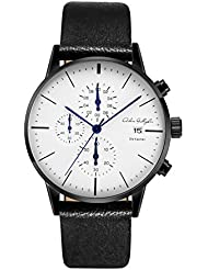 Adam Gallagher Mens Watches Waterproof Quartz Wrist watches Calendar Date Mesh Alloy Black Color Watch